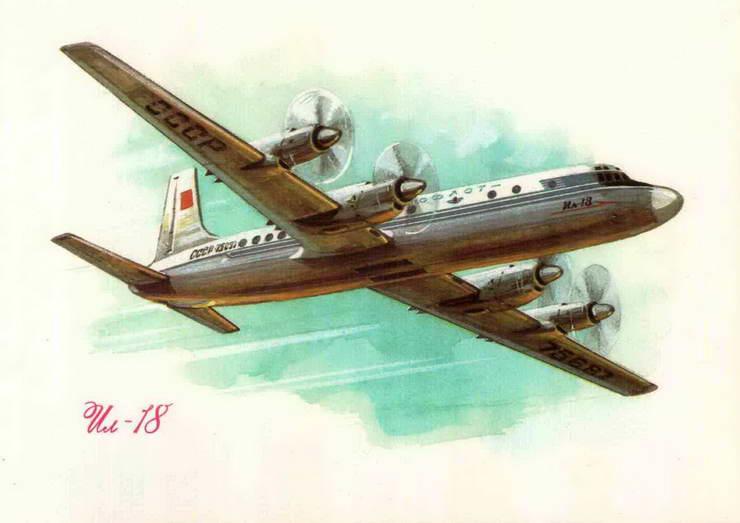 Самолёты на открытках